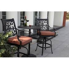 Counter Height Patio Dining Sets - elisabeth cushioned cast aluminum patio bar height set at