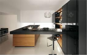 black and wood modern black kitchen designs remodeling contractor