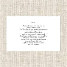 wedding gift hers uk his and hers gift poem card wedding stationery