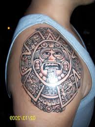 grey ink mexican aztec tattoo design photo 1 all tattoos for men