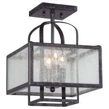 lavery camden square 4 light aged charcoal semi flush mount