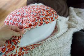 How To Make A Cushion With Zip Tutorial Diy Nursing Pillow And Slipcover Wholefully