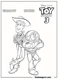 woody buzz coloring pages coloring
