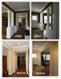 traditional entryway ideas trim mouldings and columns added to