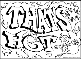 graffiti coloring pages teenagers coloring