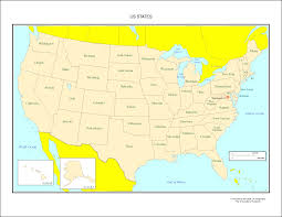 united states map with states names and capitals map of usa showing state names in usa with states listed world maps