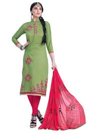 Light Green Color by Women U0027s Light Green Color Cotton Fabric Classic Dress Material