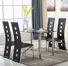 100 small round glass dining table and chairs kitchen