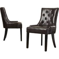 Leather Dining Chair Modern Genuine Leather Dining Chairs Allmodern