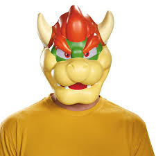 Bowser Halloween Costumes Amazon Disguise Men U0027s Bowser Costume Mask Multi