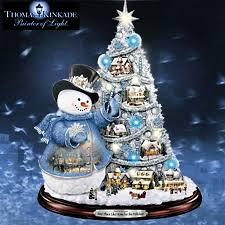 kinkade snowman pre lit tree sno place like
