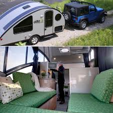 aerodynamic travel trailer with a retractable roof at 83