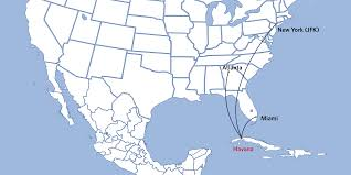 United International Route Map by Delta To Serve Havana Cuba From New York Jfk Atlanta And Miami