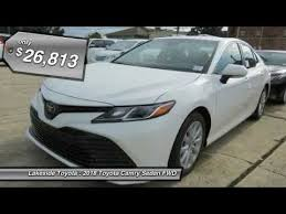 lakeside toyota used cars 2018 toyota camry metairie la jl1028
