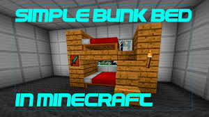 Minecraft How To Make A Bunk Bed How To Make A Simple Bunk Bed In Minecraft