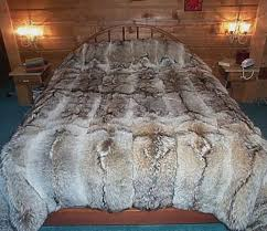Faux Fur Blankets And Throws Glacier Wear Coyote Fur Comforter For Sale