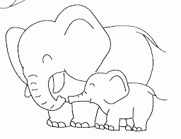 outline of a elephant coloring home