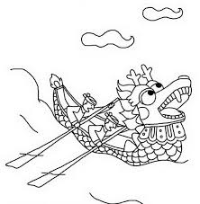 chinese dragon boat festival coloring pages family holiday net