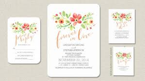 floral wedding invitations rectangle potrait white orange black