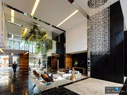 the sunlit lobby of the luxury hyde apartment building in