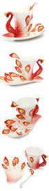 180ml peacock design ceramic cup porcelain coffee mug chinese tea