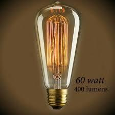60 watt light bulb lumens vintage squirrel cage tear drop filament light bulb 60 watt