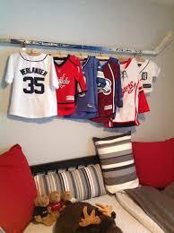 Cool My A Cool Way To Display My Son U0027s Jerseys Using His Opa U0027s Old Hockey