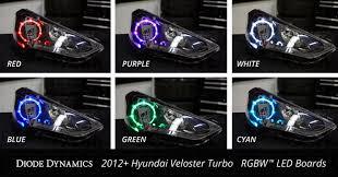 2012 2016 hyundai veloster turbo multicolor led boards oem board