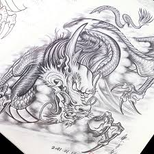 oriental dragon tattoo designs chinese traditional animal logo