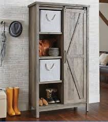 barn door for kitchen cabinets small kitchen cabinet bookcase rustic farmhouse barn door pantry storage hutch 42666033671 ebay