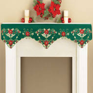 mantel scarf lighted snow icicle mantel scarf from collections etc