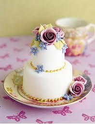 small cake fondant lace mini cake