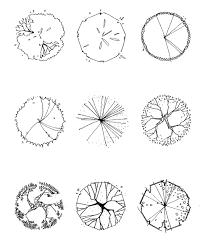 tree symbol in plan drawing symbols landscaping and plan drawing