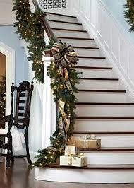 Banister Garland Ideas Christmas Staircase Decorating Ideas Pink Lover