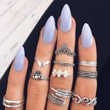 simple almond shape purple acrylic nail art makeup pinterest