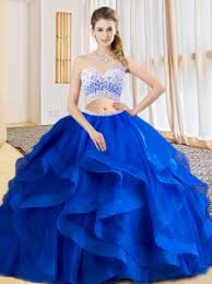 15 quinceanera dresses royal blue sleeveless tulle criss cross 15 quinceanera dress for