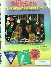 Christmas Window Cling Decorations by Vinyl Christmas U0026 Winter Window Decorations Ebay