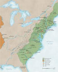 Colonial America 1776 Map by Revolutionary War Battles National Geographic Society