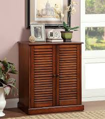 amazon com furniture of america laires 5 shelf enclosed shoe
