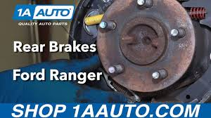 how to install replace rear drum brakes 1995 09 ford ranger buy