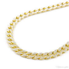 cuban chain necklace gold images Hiphop jewelry 18k rose gold cuban chain iced out cz necklace 30 jpg