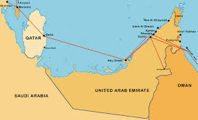 Doha Qatar Map Lap 1950 1972 A Brief History Of The Gulf Aviation Company And
