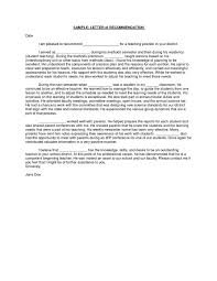 of recommendation from academic advisorletter of recommendation