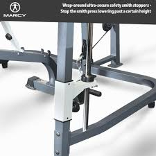 buy marcy mp3100 smith machine home gym with weight bench at