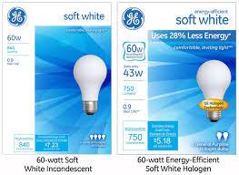 Led Light Bulbs Vs Energy Saving by Ge U0027s Energy Efficient Soft White Halogen Light Bulb Offers Big
