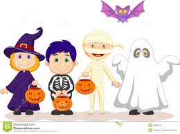 happy halloween free clip art cartoon happy halloween party with children trick or treating