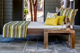 lake house outdoor daybed cushions and pillows rustic patio