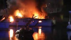fire at cape cod harbor sinks 1 boat 1 injured nbc boston