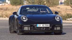 old porsche black next gen porsche 911 turbo is back in black spied on the street