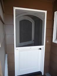dutch doors stowaway arched dutch door retractable screen